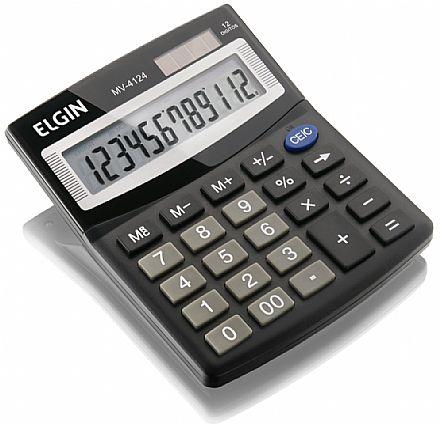 Calculadora de Mesa Elgin MV 4124 - Alimentação Solar e Bateria - 42MV41240000