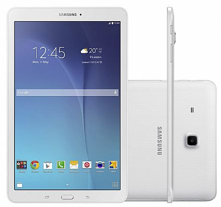 "Tablet Samsung Galaxy Tab E T561M 3G - Tela 9.6"", Android, Wi-Fi, 8GB, Quad-Core - SM-T561M- Branco"