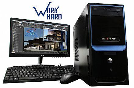 "Computador Bits WorkHard G2 - Intel Core i5, 8GB, HD 1TB, Monitor 18.5"", DVD-RW, Windows Pro, com Teclado e Mouse - Outlet - Garantia 2 anos"