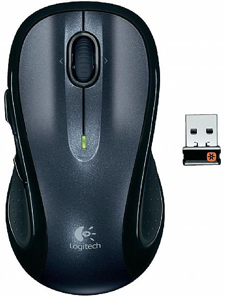 Mouse sem Fio Logitech M510 - 7 botões - Preto - 910-001822