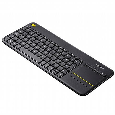 Teclado sem Fio Logitech Touch K400 Plus - USB - Touchpad Multitoque - ABNT2 - Ideal para Smart TV - 920-007125