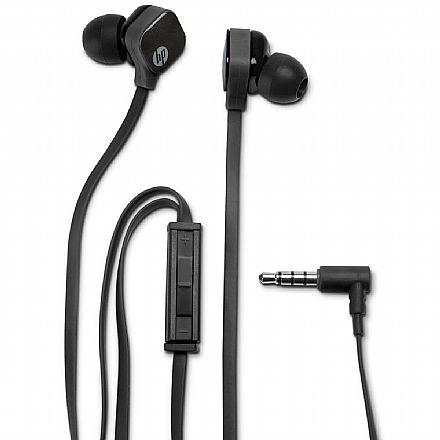 Fone de Ouvido Intra-Auricular HP H2310 - com Microfone - Conector 3.5mm - Preto - J8H42AA