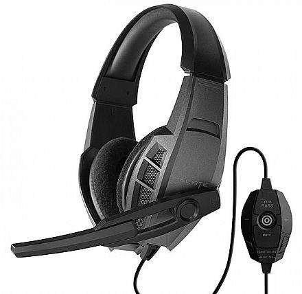 Headset Gamer Edifier G3 - com controle de Volume e Microfone - Conector 3.5mm