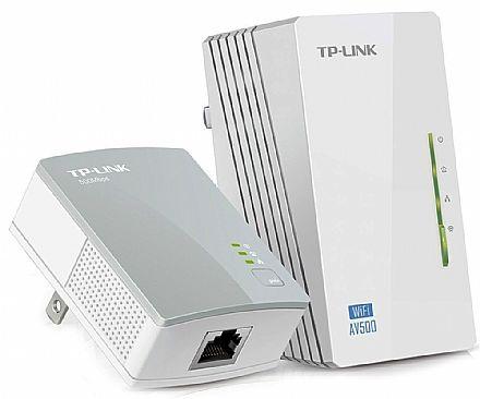 Extensor de Alcance Wi-Fi PowerLine TP-Link TL-WPA4220KIT - 300Mbps - Transforme sua Rede Elétrica em uma Rede de Internet - Versão 3.0