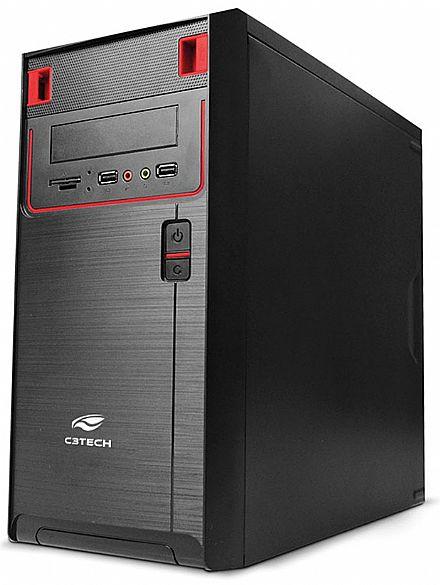 Gabinete C3 Tech MT-21BK - com fonte de 200W - Micro ATX - PS-200V2 U2HA