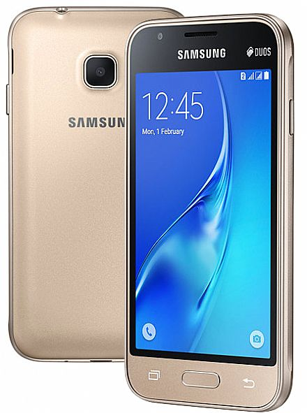 "Smartphone Samsung Galaxy J1 Mini - Tela 4"", Quad Core, 8GB - Dourado - SM-J105B"