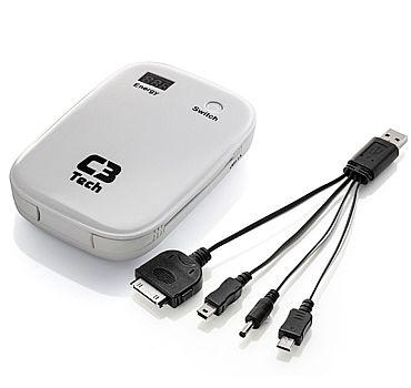 Power Bank Carregador Portátil C3 Tech UC-6000WH - Bateria Externa 6000mAh - USB - para Smartphones, Tablets - Branco