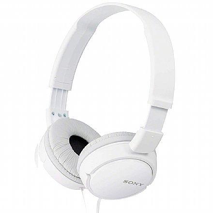 Fone de Ouvido Sony MDR-ZX110 - Conector 3.5mm - Branco