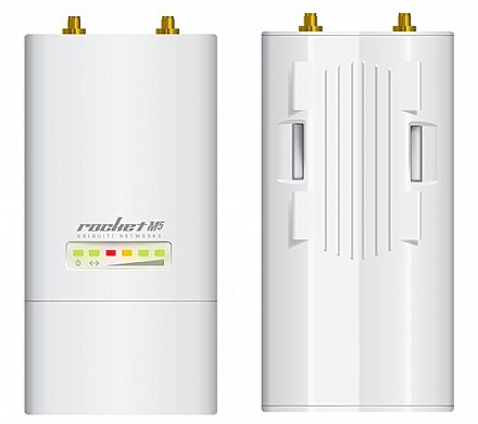 BaseStation Ubiquiti Rocket M5 airMAX - 5 GHz - 1 porta PoE 10/100Mbps - Throughput TCP efetivo de até 150Mbps - ROCKETM5