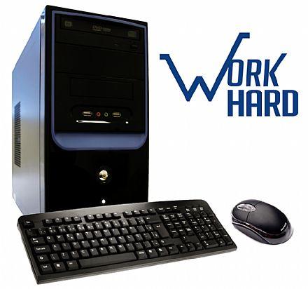 Computador Bits WorkHard - Intel Core i3, 4GB, HD 500GB, DVD-RW, Intel HD Graphics 2500, FreeDos, com Teclado e Mouse