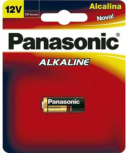 Bateria Alcalina A23 Panasonic LRV08-1B - para Controle Remoto de Alarme - Unitário
