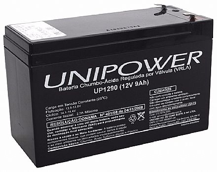 Bateria Selada para Nobreak - 12V / 9Ah - Unipower UP1290