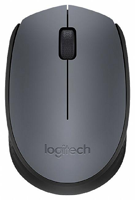 Mouse sem Fio Logitech M170 - 2.4GHz - 1000dpi - Cinza - 910-004425