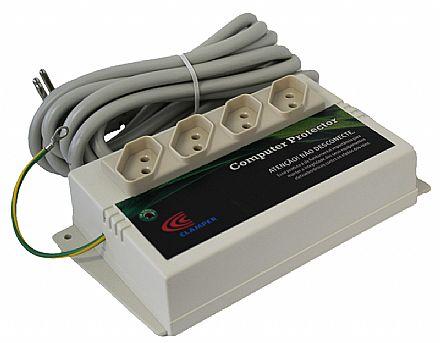 Filtro de linha 4 tomadas DPS Clamper Computer Protector - Cinza - 127V - 15A - OEM