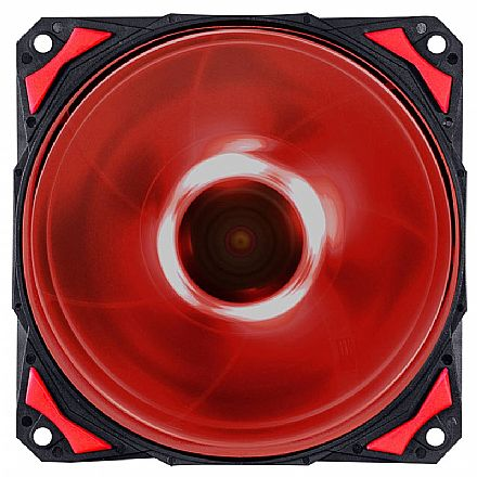 Cooler 120x120mm PCYes Fury F4 - 1700 RPM - LED Vermelho - F4120LDVM