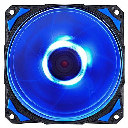 Cooler 120x120mm PCYes Fury F4 - 1700 RPM - LED Azul - F4120LDAZ