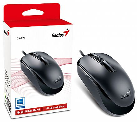 Mouse Genius DX-120 - USB - 1200dpi - Preto - 31010105100