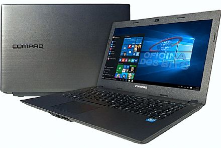"Notebook HP Compaq Presario CQ23 - Tela 14"" HD, Intel Dual Core N2820, 8GB, HD 500GB, Windows 10"