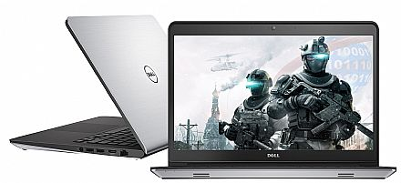 "Notebook Dell Inspiron i14-5457-RW40 Special Edition - Tela 14"" HD, Intel i7 6500U, 16GB, HD 1TB + SSD 8GB, Video GeForce 930M 4GB, Teclado iluminado, Windows 10 - Garantia 1 ano - Seminovo"