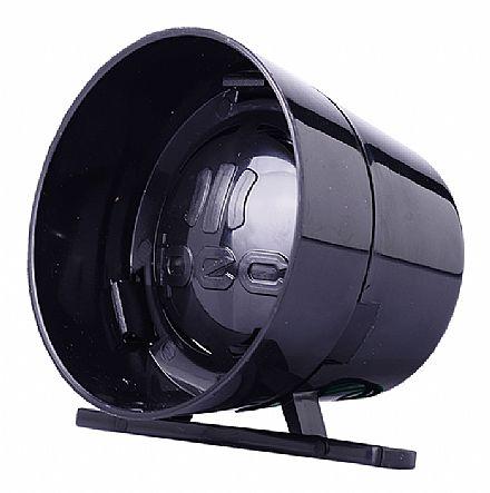 Sirene para Alarme - 12V / 24V - Digital 1 Som - 116dB - Preto - IPEC A3059/P