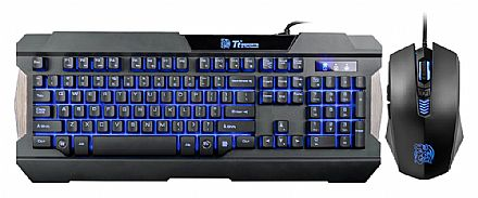 Kit Teclado e Mouse Thermaltake Commander Combo Multi Light - LED 3 cores - KB-CCM-PLBLPB-01