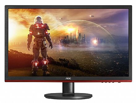 "Monitor 24"" AOC Gamer Sniper G2460VQ6 LED - Full HD - 1ms - FreeSync - VGA/HDMI/Display Port"