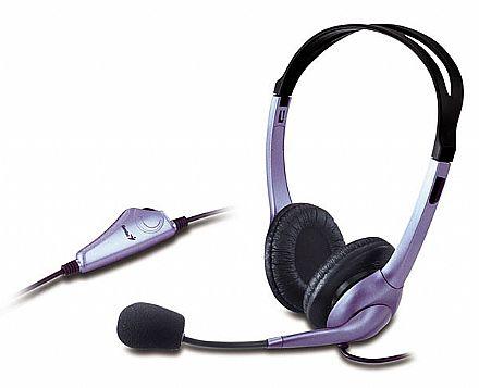 Headset Genius HS-04S - com Controle de Volume - Conector 3.5mm - 31710156101