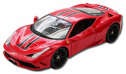 Miniatura Ferrari 458 Speciale Vermelha - Escala 1:18 - Bburago 18-16903