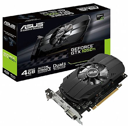 GeForce GTX 1050 Ti 4GB GDDR5 128bits - PHOENIX Fan Edition - Asus PH-GTX1050TI-4G
