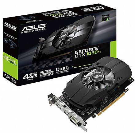 GeForce GTX 1050 Ti 4GB GDDR5 128bits - PHOENIX Fan Edition - Asus PH-GTX1050TI-4G