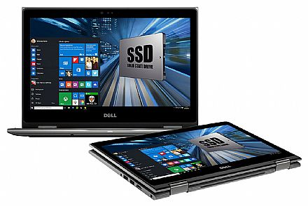 """Dell Inspiron i13-5378-A20C 2 em 1 - Tela 13.3"""" Touch Full HD, Intel i5 7200U, 8GB, SSD 240GB, Windows 10 - Cinza - Outlet"""