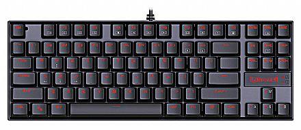 Teclado Mecânico Redragon KUMARA - Iluminação LED Vermelho - Switch Outemu Brown - K552 - ABNT2