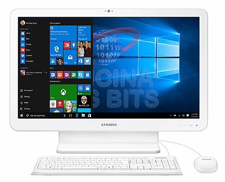 "Computador All in One Samsung E1 - Tela 21.5"" Full HD, Intel Celeron 3855U, 4GB, HD 500GB, Windows 10 - DP500A2L-KW1BR"