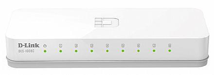 Switch 8 portas D-Link DES-1008C - 10/100Mbps