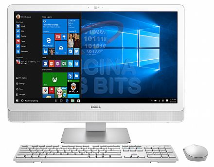 "Computador All in One Dell Inspiron 24 iOne-3464-A20 - Tela 23.8"" Full HD, Intel i5 7200U, 8GB, SSD 240GB, DVD, Windows 10 + Teclado e Mouse sem Fio - Seminovo - Garantia 1 ano"