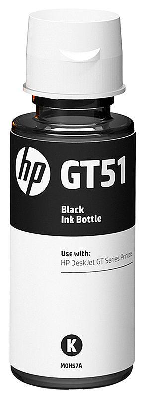 Refil de Tinta HP GT51 M0H57AL - Preto - Para Multifuncionais Tanque de Tinta HP Deskjet GT 5810, GT 5820, GT 5822