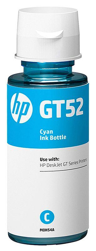 Refil de Tinta HP GT52 M0H54AL - Ciano - Para Multifuncionais Tanque de Tinta HP Deskjet GT 5810, GT 5820, GT 5822