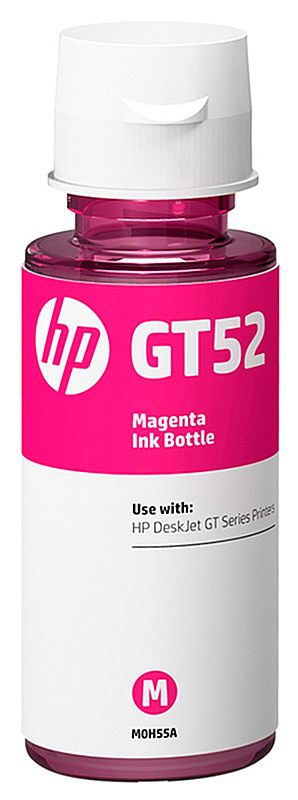 Refil de Tinta HP GT52 M0H55AL - Magenta - Para Multifuncionais Tanque de Tinta HP Deskjet GT 5810, GT 5820, GT 5822