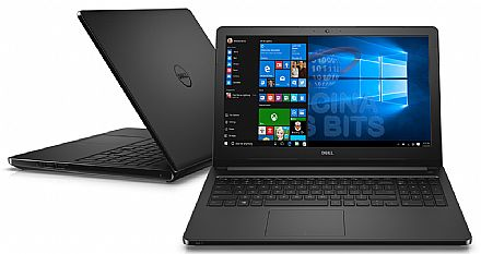 "Notebook Dell Inspiron i15-5566-R40P - Tela 15.6"", Intel i5 7200U, 8GB, HD 1TB, Windows 10 - Preto - Garantia 1 ano - Seminovo"