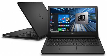 "Notebook Dell Inspiron i15-5566-A50P - Tela 15.6"" HD, Intel i7 7500U, 8GB, SSD 240GB, Intel HD Graphics 620, Windows 10 - Preto"