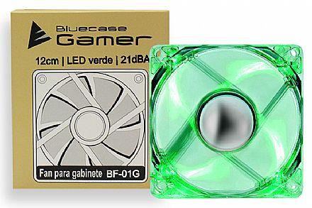 Cooler 120x120mm Bluecase - LED Verde - BF-01G
