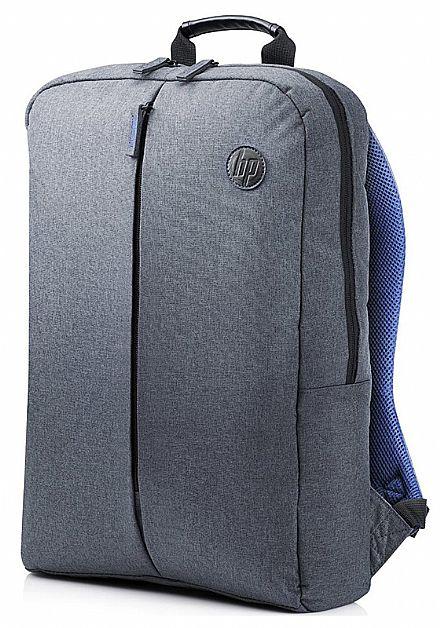 """Mochila HP Atlantis K0B39AA - para Notebooks de até 15.6"""" - Cinza e Azul"""