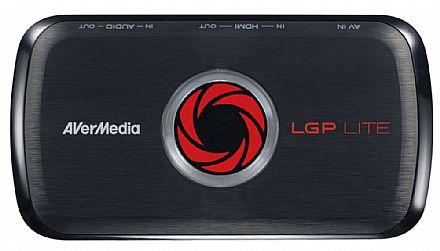 Captura de Video Live Gamer Portable AVerMedia GL310 LGP Lite - Full HD 1080p - HDMI - Grava direto no armazenamento USB - Ideal para Gravar Jogos - Compatível com PC / Xbox 360 / Xbox One / PS3 / PS4