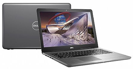"Notebook Dell Inspiron i15-5567-RW40C - Tela 15.6"" HD, Intel i7 7500U, 16GB, SSD 480GB, DVD, Video Radeon R7 M445 4GB, Windows 10 - Cinza - Garantia 1 ano - Seminovo"