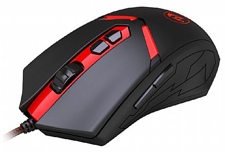 Mouse Redragon Nemeanlion - 3000dpi - 6 Botões - LED 7 Cores - M602