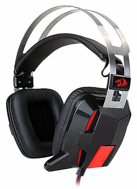 Headset Redragon Lagopasmutus - Controle de Volume e Vibração - com Microfone e LED - H201