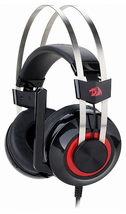 Headset Redragon Talos - Surround 7.1 - com Microfone e LED - Driver de Vibração - Conector USB - H601