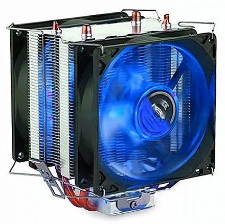 Cooler DEX DX-9100D (Intel / AMD) - LED Azul - 38.5 CFM