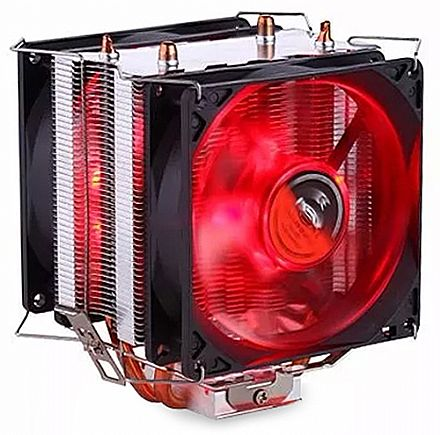 Cooler DEX DX-9100D (Intel / AMD) - LED Vermelho - 38.5 CFM