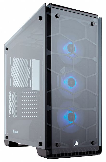 Gabinete Corsair Crystal Series 570X - USB 3.0 - Mid Tower - Vidro Temperado - LED RGB - CC-9011098-WW